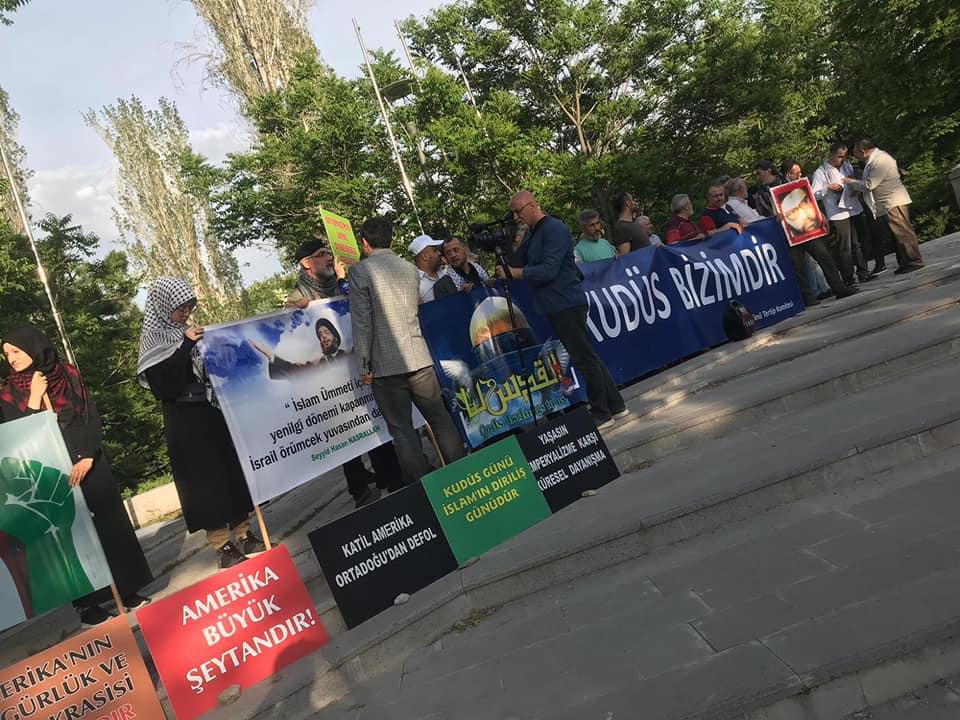 Ankara'da Siyonist Elçilik Önünde Dünya Kudüs Günü Basın Açıklaması (VİDEO-FOTO)