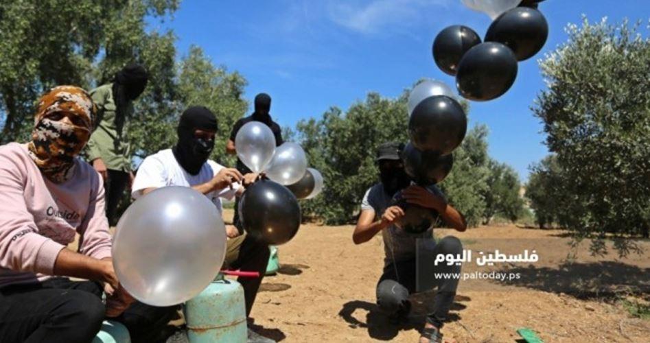 Filistin Direnişi Siyonist Yerleşkelere Yeniden Yangın Çıkarıcı Balonlar Göndermeye Başladı