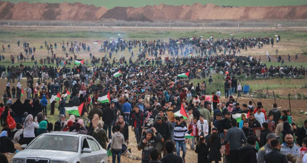 Gazze'de Toprak Günü Yürüyüşü Başladı (CANLI YAYIN)