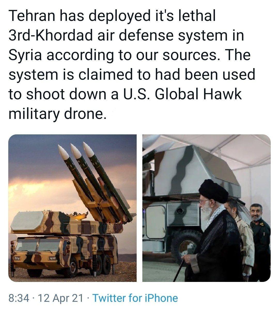 İran Suriye'ye Hordad-3 Hava Savunma Sistemini Konuşlandırdı Mı?