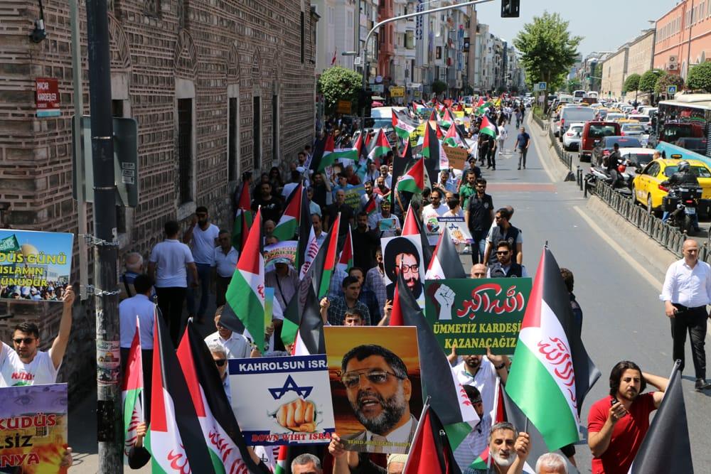İstanbul'da Dünya Kudüs Günü Yürüyüşü Düzenlendi (VİDEO-FOTO)