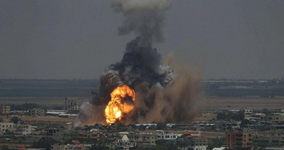 Katil İsrail Ordusu Gazze'ye Hava Saldırısı Düzenledi