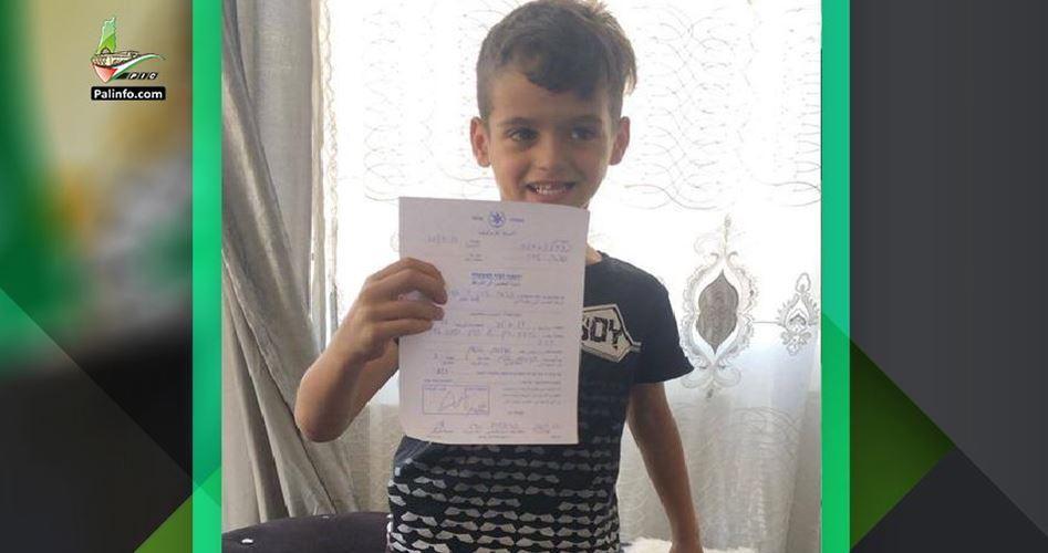 Korsan İsrail 6 Yaşındaki Filistinli Çocuğu İfade Vermeye Çağırdı