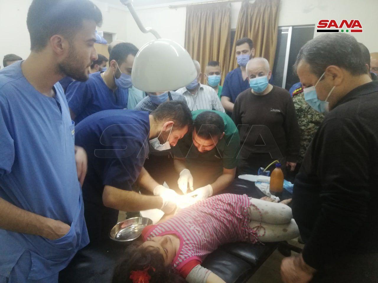 Korsan İsrail Ordusu Lazkiye ve Hama'da Sivil ve Askeri Hedeflere Saldırdı (Video)