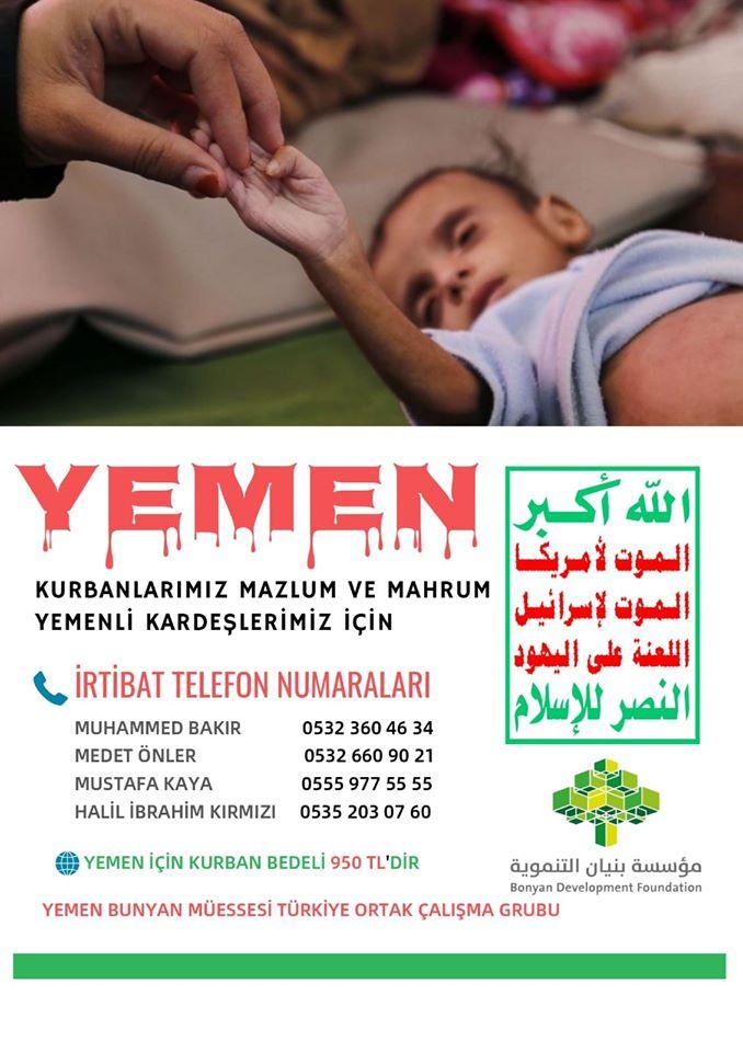 Kurbanlarımız Mahrum ve Mazlum Yemenli Kardeşlerimiz İçin (KAMPANYAYA DAVET)