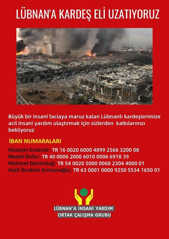 Lübnan İçin İnsani Yardım Kampanyası Başlatıldı (DAVET)