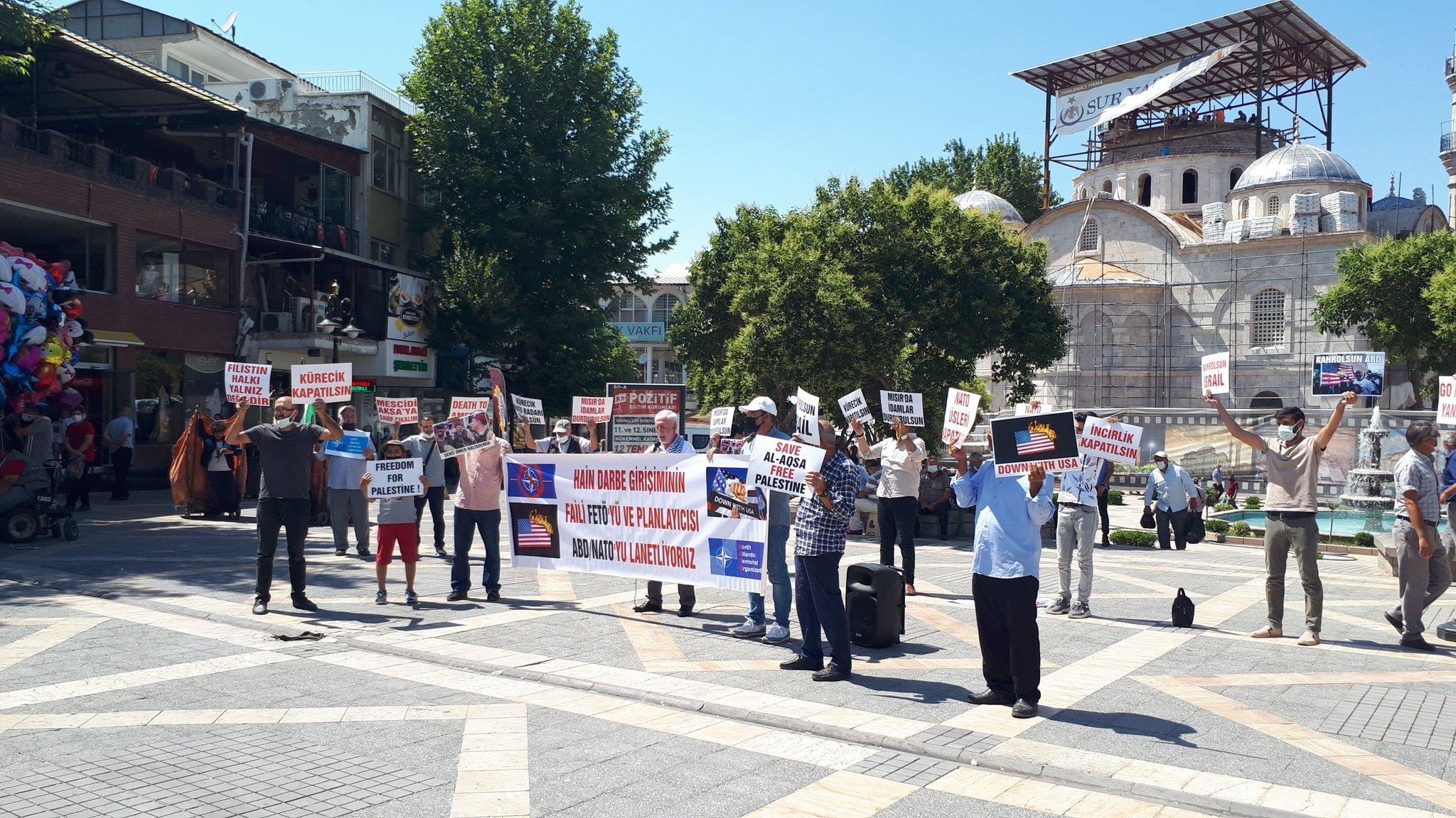 Malatya'da Nato'ya ve Üslerine Hayır Eylemi Yapıldı/Mısır ve Suud'taki İdamların Durdurulması Talep Edildi