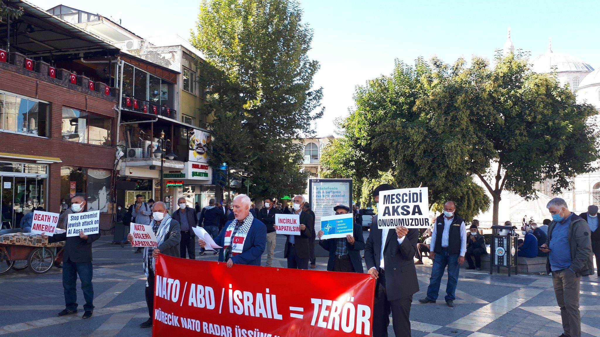 Malatya'da Nato'ya Ve Üslerine Hayır Temalı Basın Açıklaması Düzenlendi/Mescidi Aksa'ya Yönelik Saldırılar Protesto Edildi (Foto/Video)
