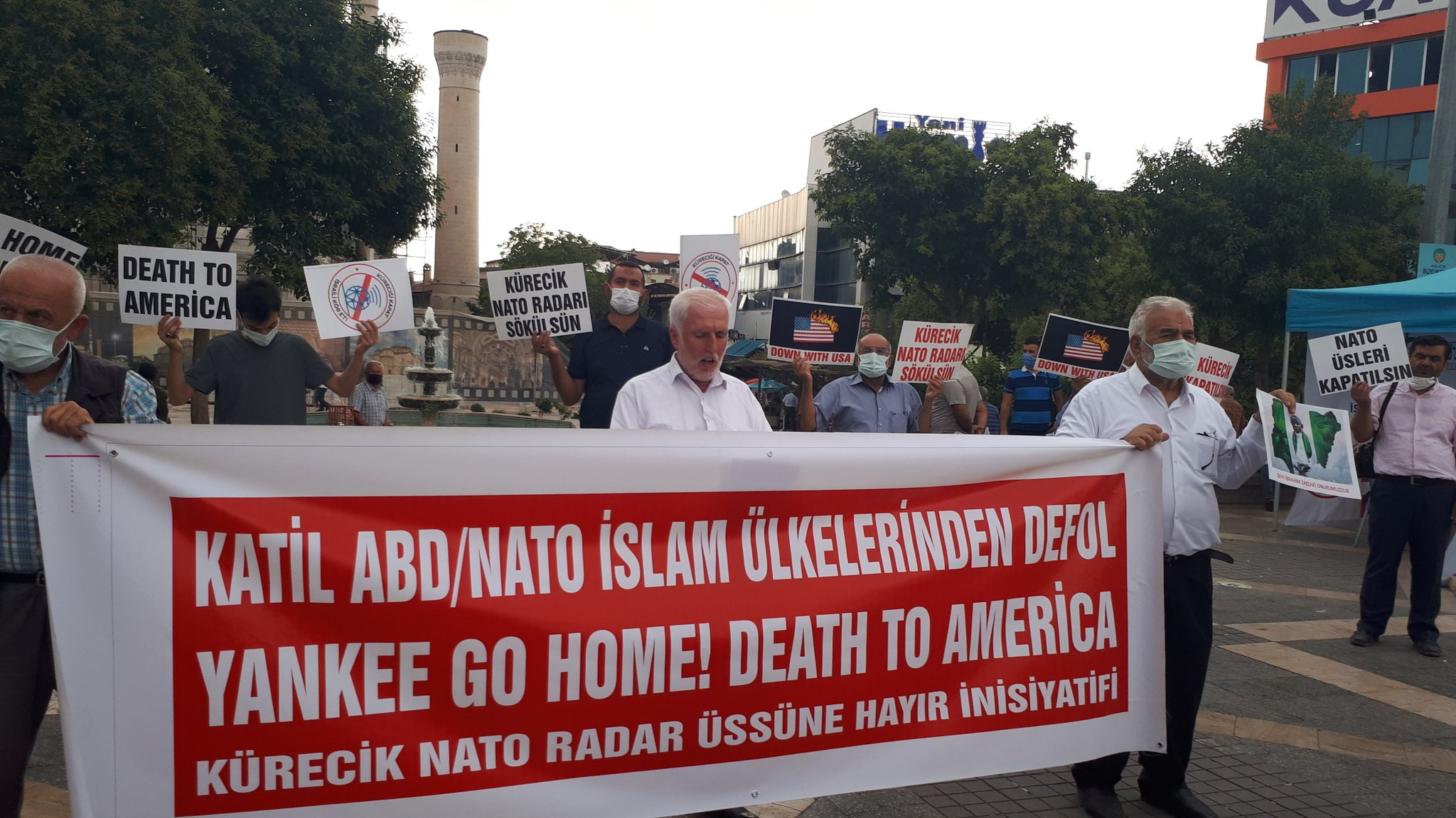 Malatya'da Nato'ya ve Üslerine Hayır Temalı Basın Açıklaması Düzenlendi (Video-Foto)