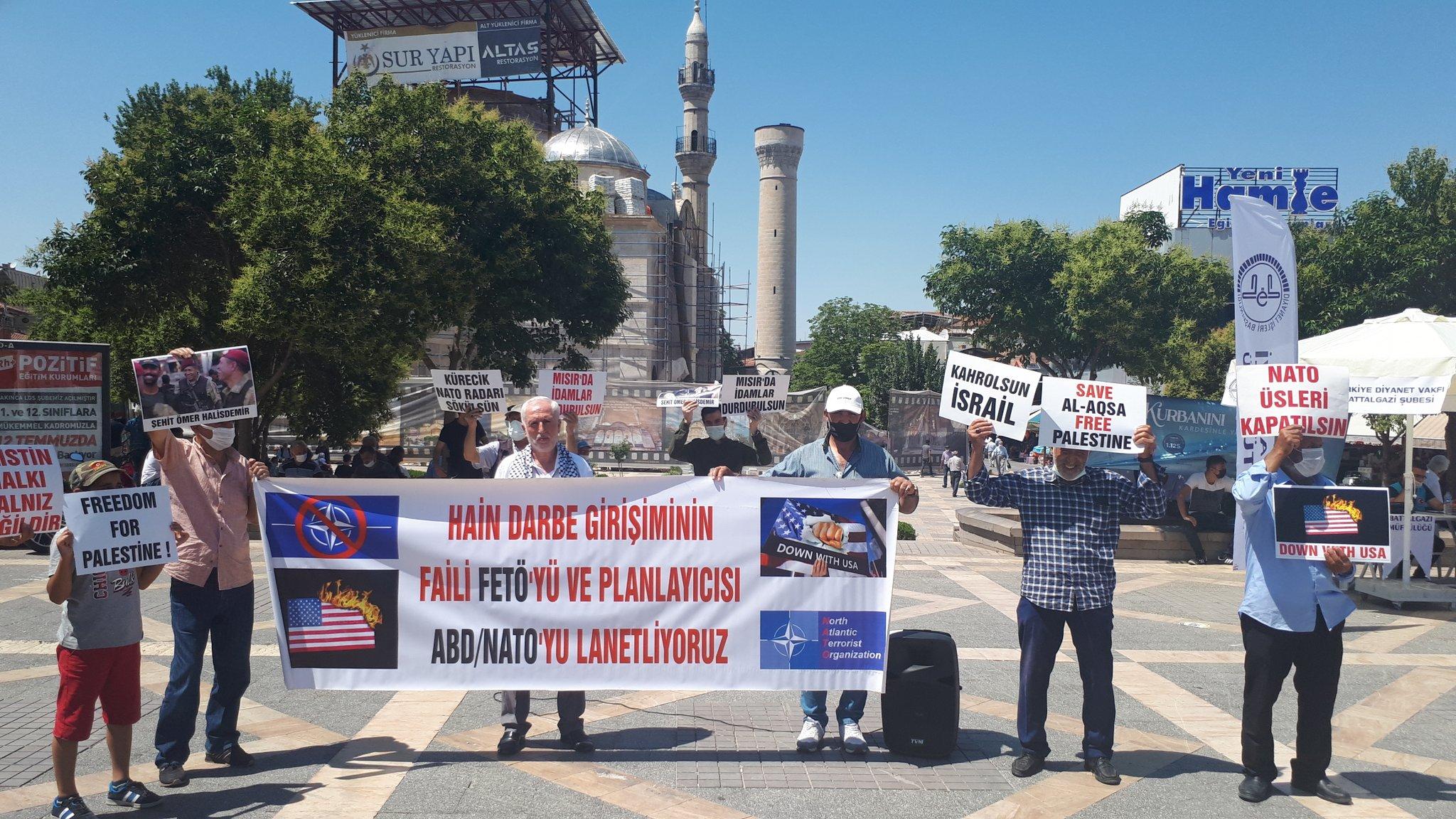 Nato'ya ve Üslerine Hayır Demek ve Korsan İsrail'in Lübnan'a Yönelik Saldırılarını Protesto Etmek İçin Cuma Günü Malatya'dayız