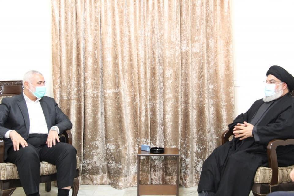Seyyid Hasan Nasrallah ve İsmail Heniyye Beyrut'ta Bir Araya Geldi