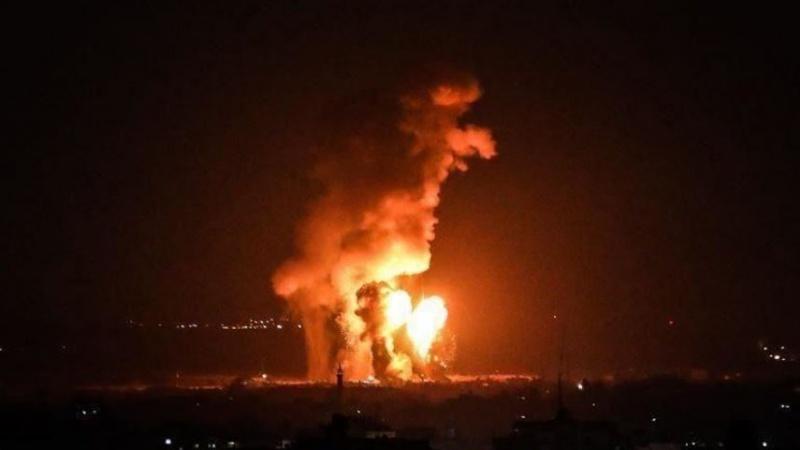 Siyonist Ordu Bu Gece Gazze'ye Saldırdı (Video)